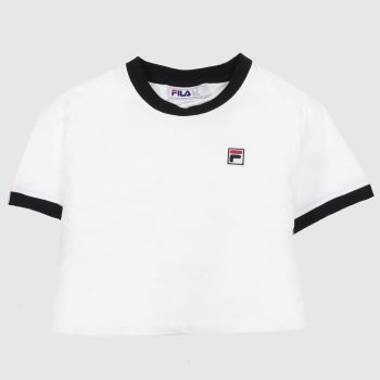 Fila White & Black Kahleesi Crop Womens