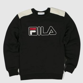 Fila Black Basil 2 Crew Sweat Mens