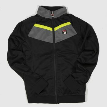 Fila Black & Grey Rudra Track Top Mens