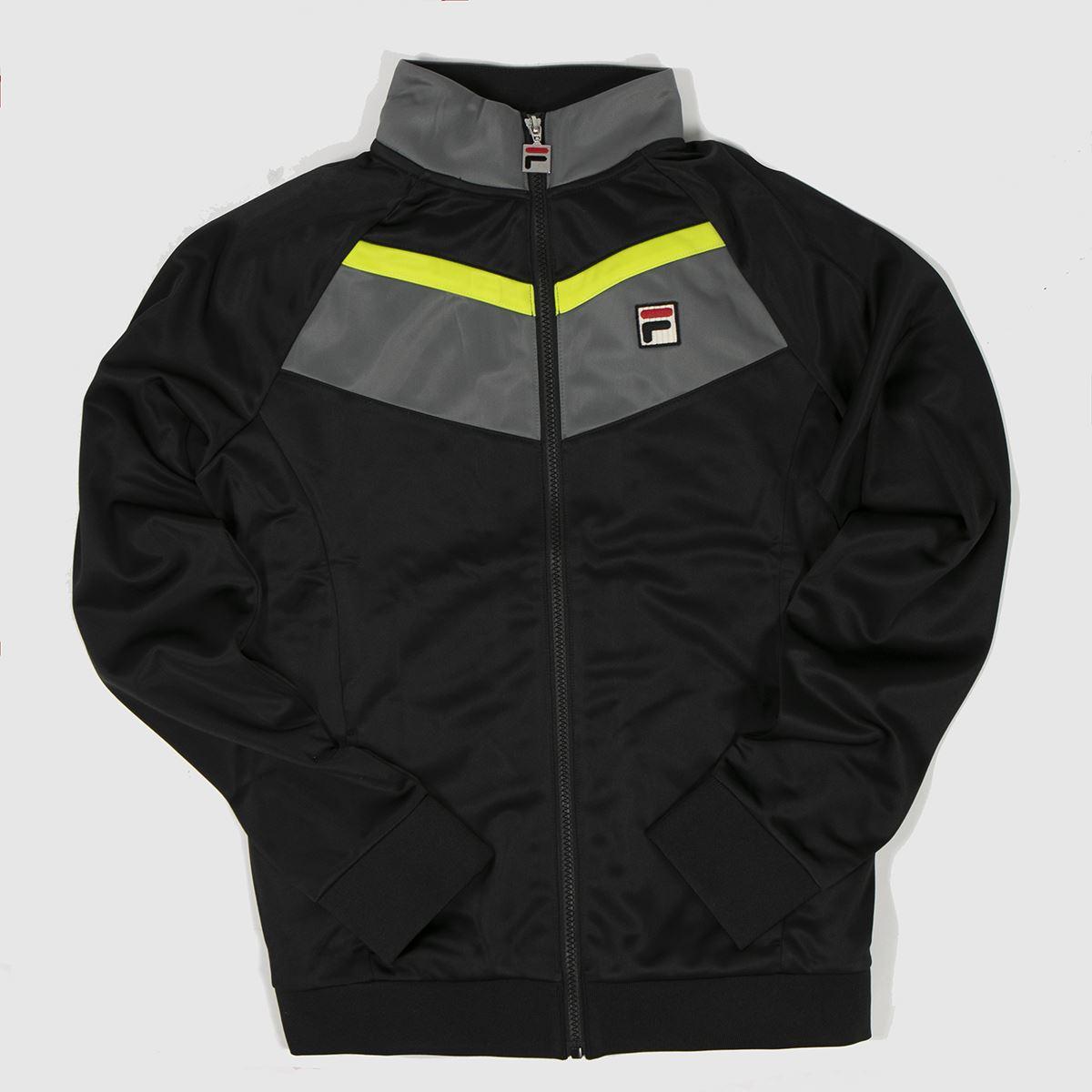 Clothing Fila Black & Grey Rudra Track Top
