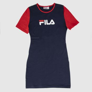 Fila Navy & Red Roslyn Dress c2namevalue::Womens