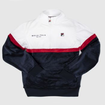 Fila Navy & White Kane Jacket Mens