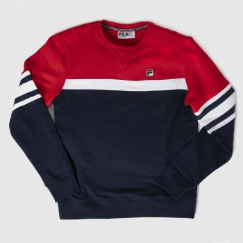 Fila Navy & Red Verus Crew Mens