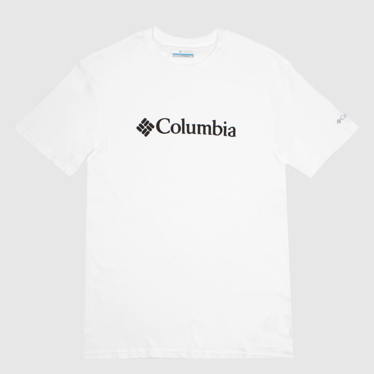 Clothing Columbia  White Csc Basic Logo Ss Tee