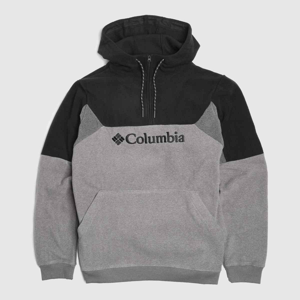Columbia  Grey & Black Lodge Ii Hoodie Fleece