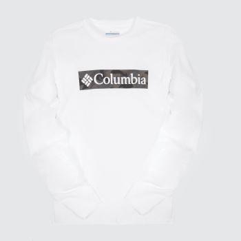 Columbia  White Lookout Point Ls Tee Mens