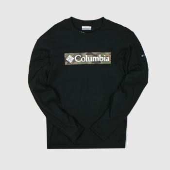 Columbia  Black Lookout Point Ls Tee Mens#