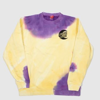 Santa Cruz Yellow Moon Dot Crew Womens