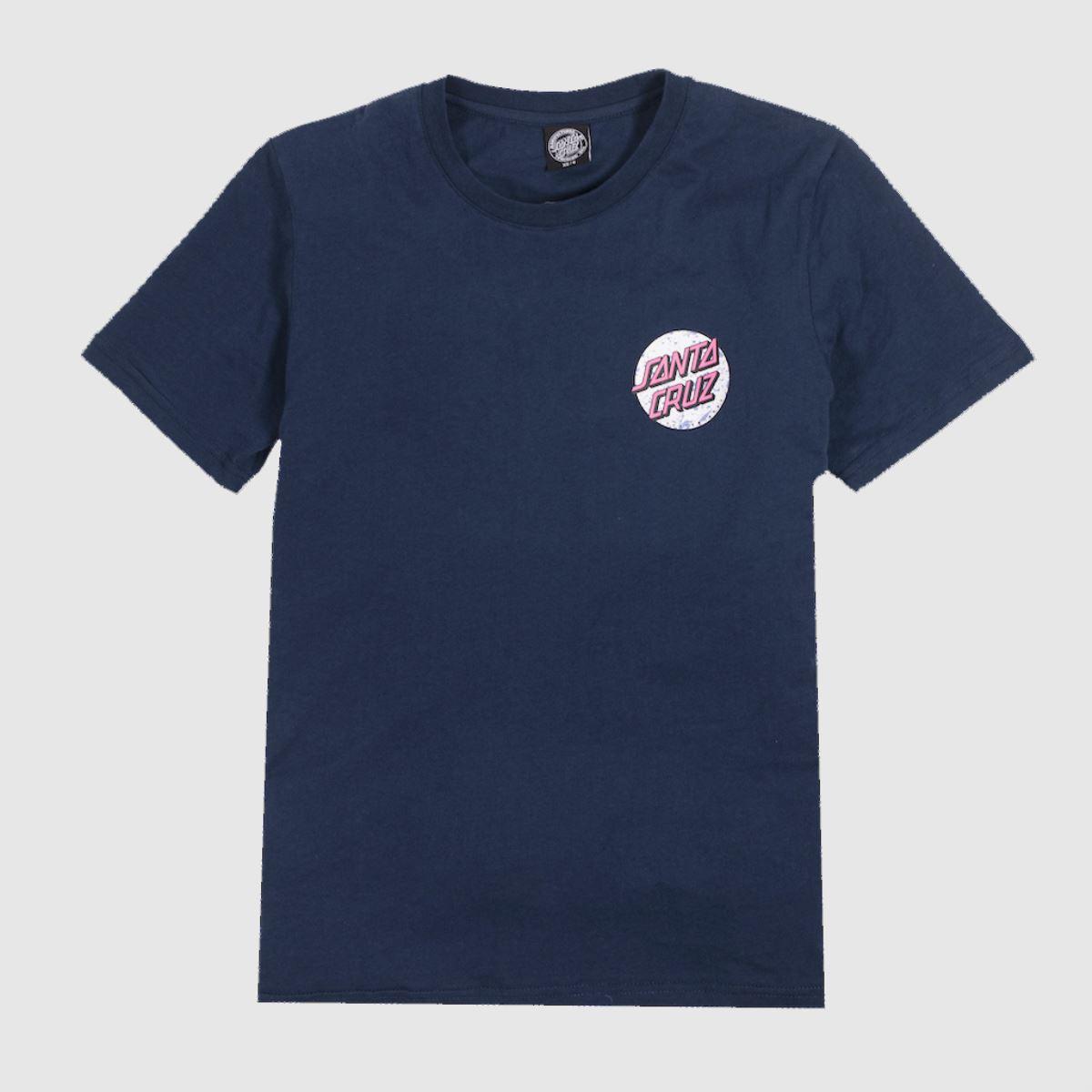 Santa Cruz Clothing Santa Cruz Navy Speckled Dot T-shirt