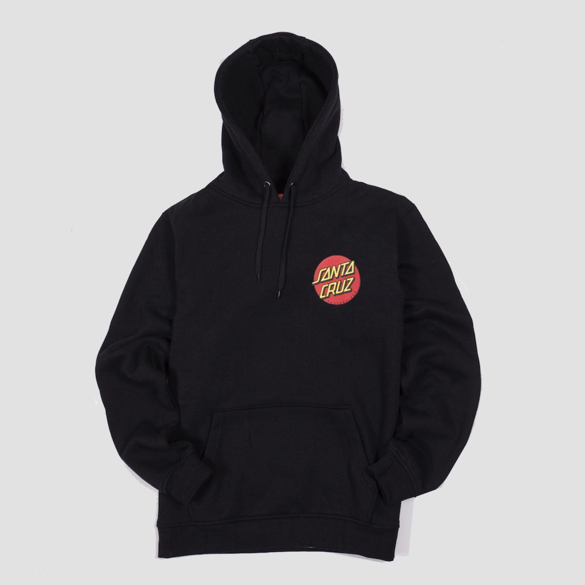 Santa Cruz Clothing Santa Cruz Black Classic Dot Hood