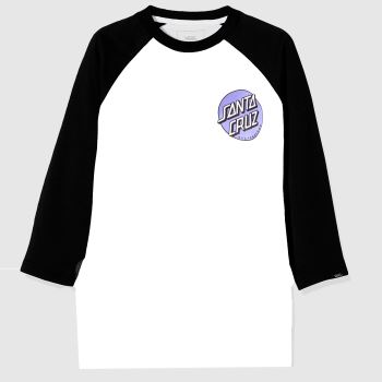 Santa Cruz White & Black Rob Dot 2 L/s Mens