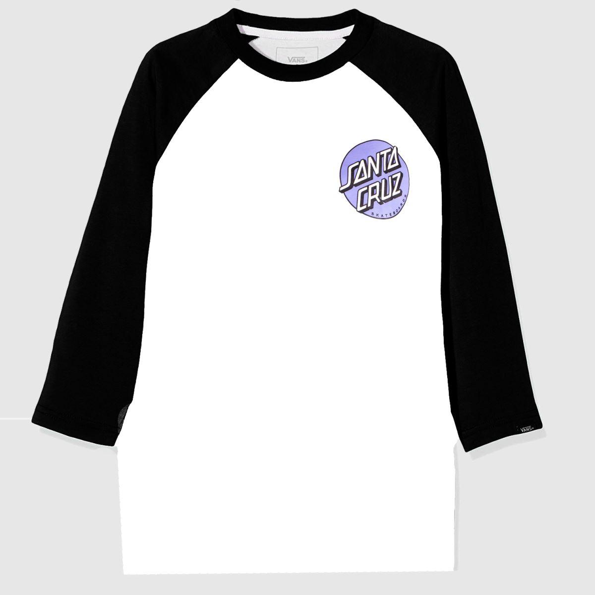 Santa Cruz Clothing Santa Cruz White & Black Rob Dot 2 L/s