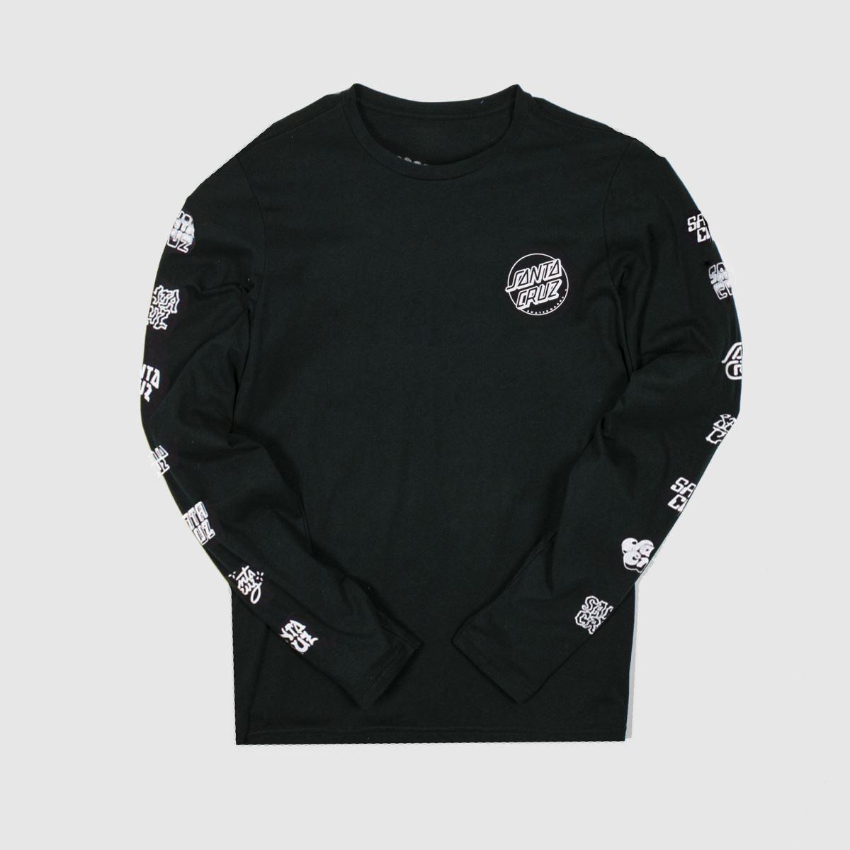 Santa Cruz Clothing Santa Cruz Black & White Opus Dot Sleeves