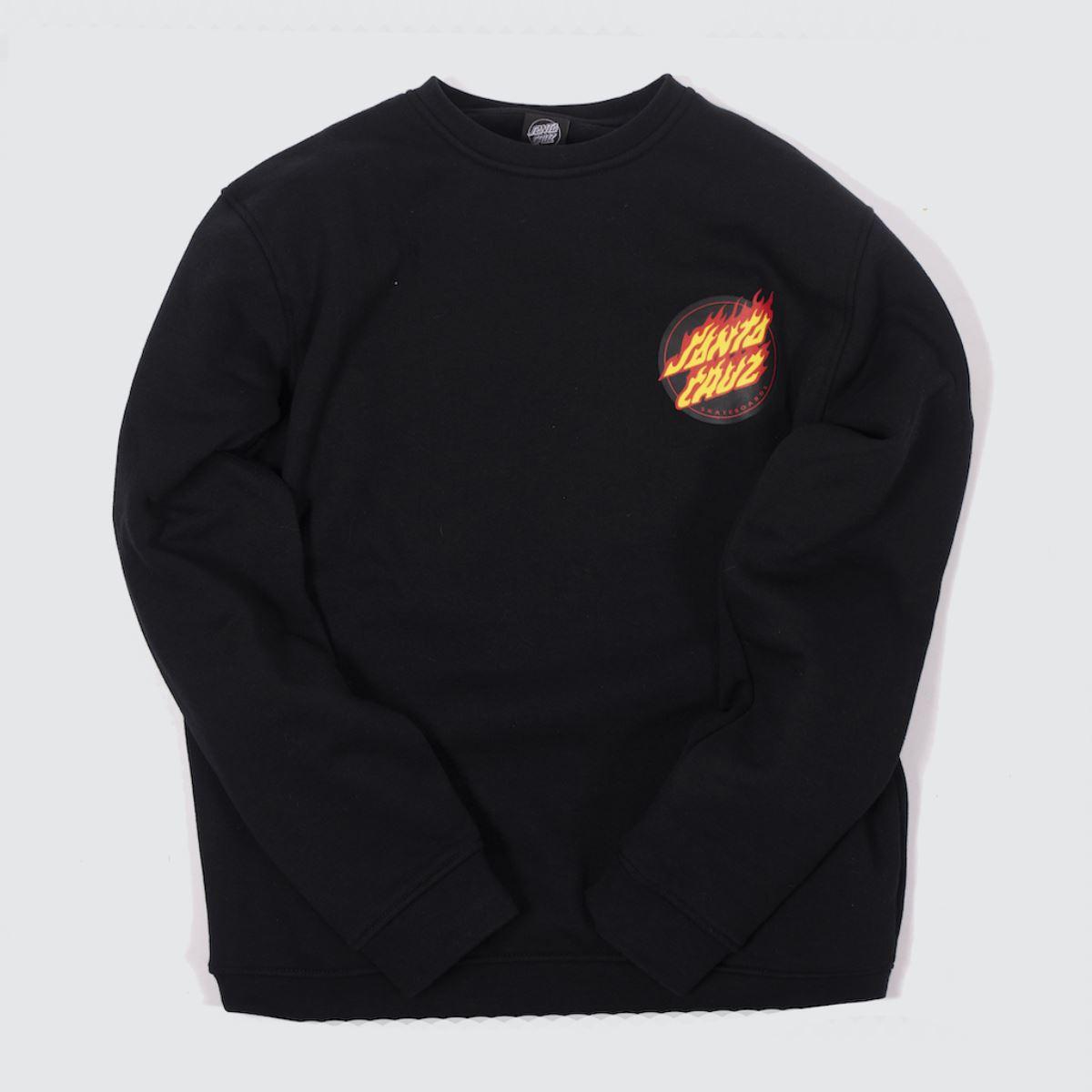 Santa Cruz Clothing Santa Cruz Black Flaming Japenese