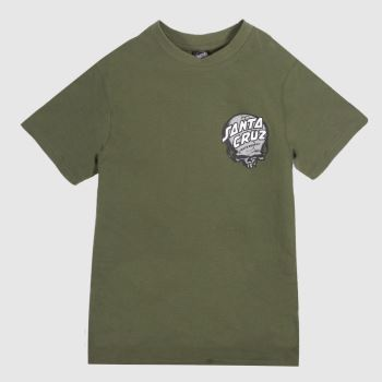 Santa Cruz Khaki Obrien Skull T-shirt Mens