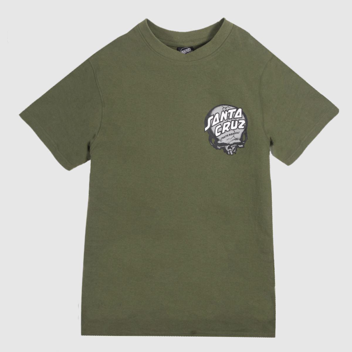 Santa Cruz Clothing Santa Cruz Khaki Obrien Skull T-shirt