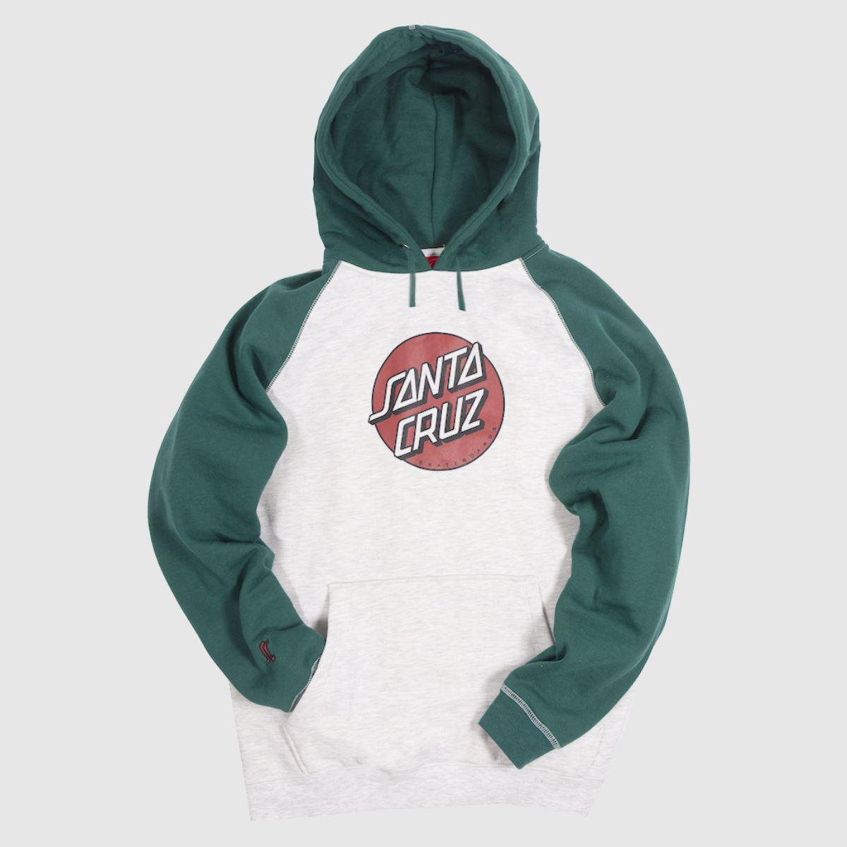 Santa Cruz Clothing Santa Cruz White & Green Missing Dot Hood