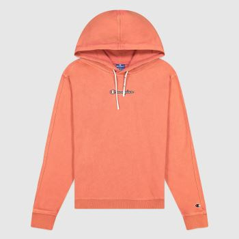 Champion Orange Hooded Sweatshirt Womens