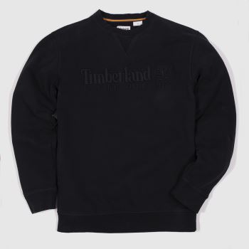 Timberland Black Heritage Crew Neck Sweat Mens