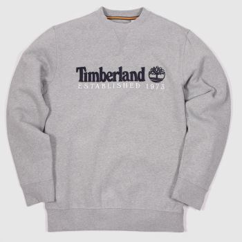Timberland Grey Heritage Crew Neck Sweat Mens