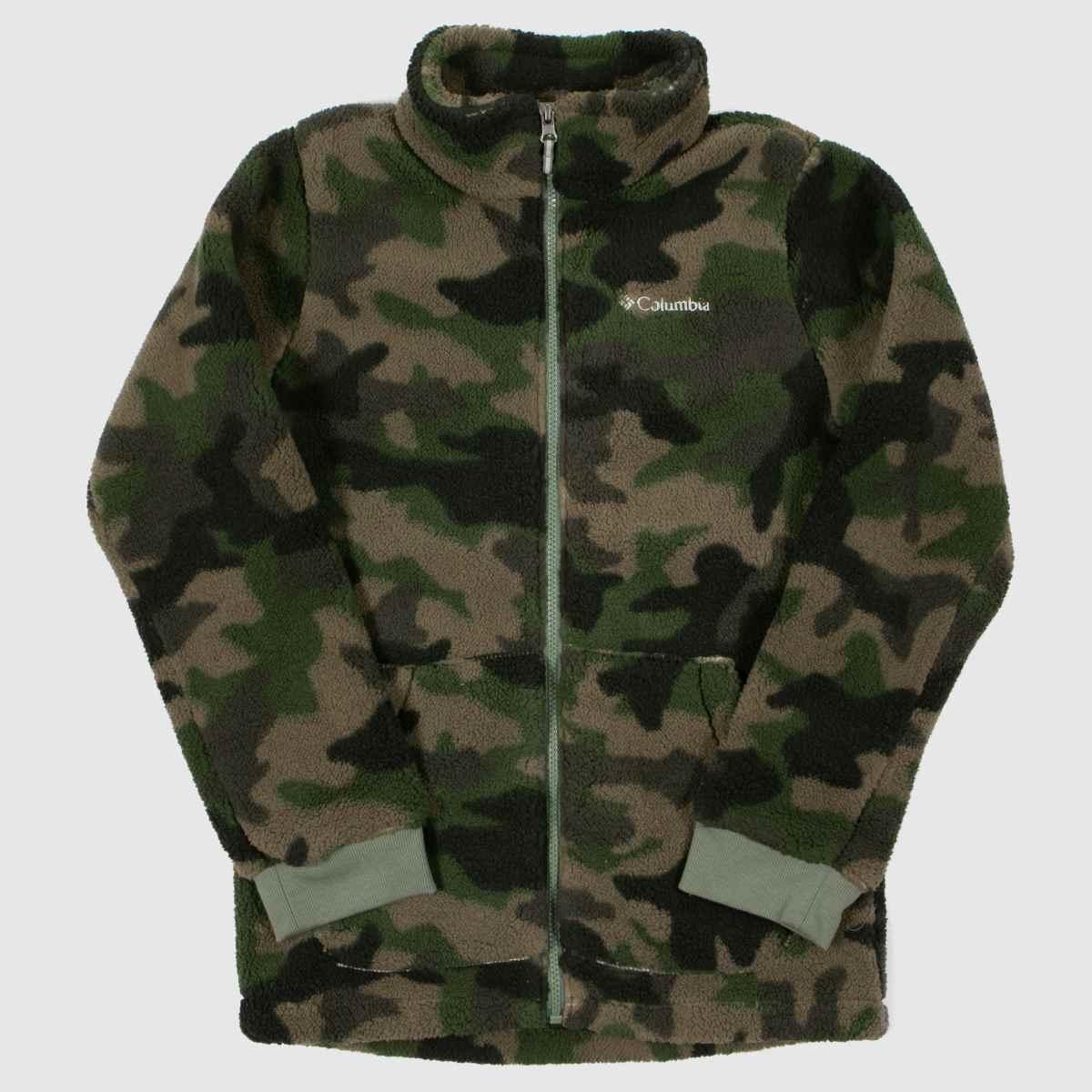Columbia  Khaki Boys Fleece Full Zip