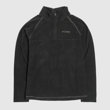 Columbia  Black Boys Fleece Half Zip Boys