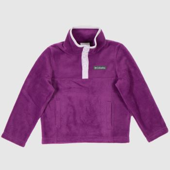 Columbia  Purple Kids Fleece Half Zip Kids Unisex
