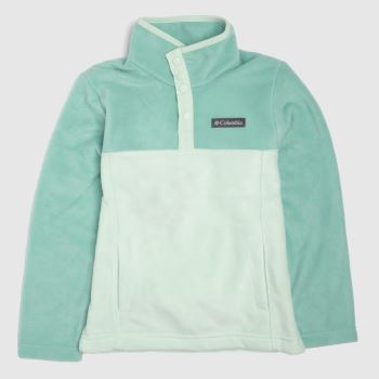 Columbia  Turquoise Kids Fleece Half Zip Kids Unisex