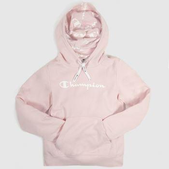 clothing champion pink hooded sweatshirt