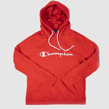 Champion Red Hooded Sweatshirt Mens