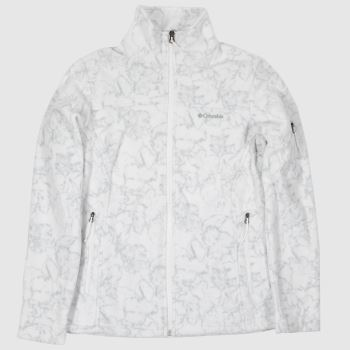 Columbia  White Fast Trek Printed Womens