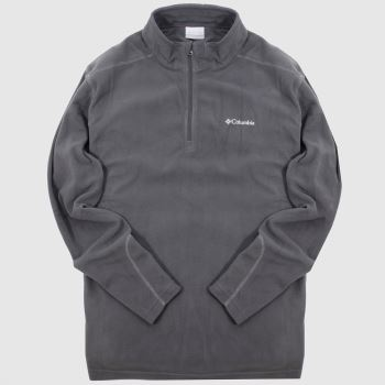 Columbia  Dark Grey Klamath Range Ii Half Zip Mens