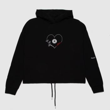 Converse Black & Red Love Hoodie Womens