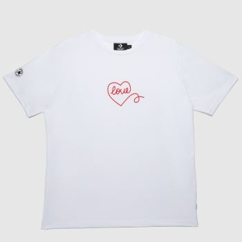 Converse White & Red Cons Love Boyfriend Tee Womens