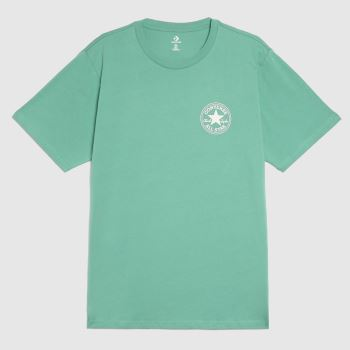 Converse Green Patch Short Sleeve Tee Mens