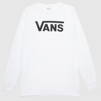 Vans White & Black Classic Ls Tee Mens