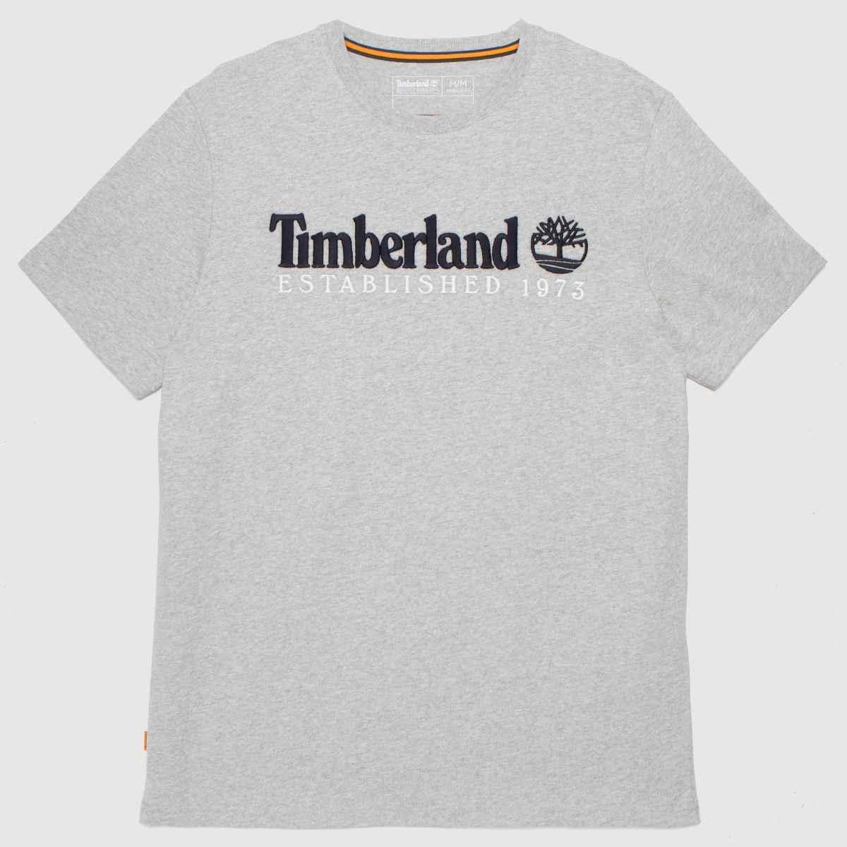 Timberland Grey Heritage Linear Logo Tee