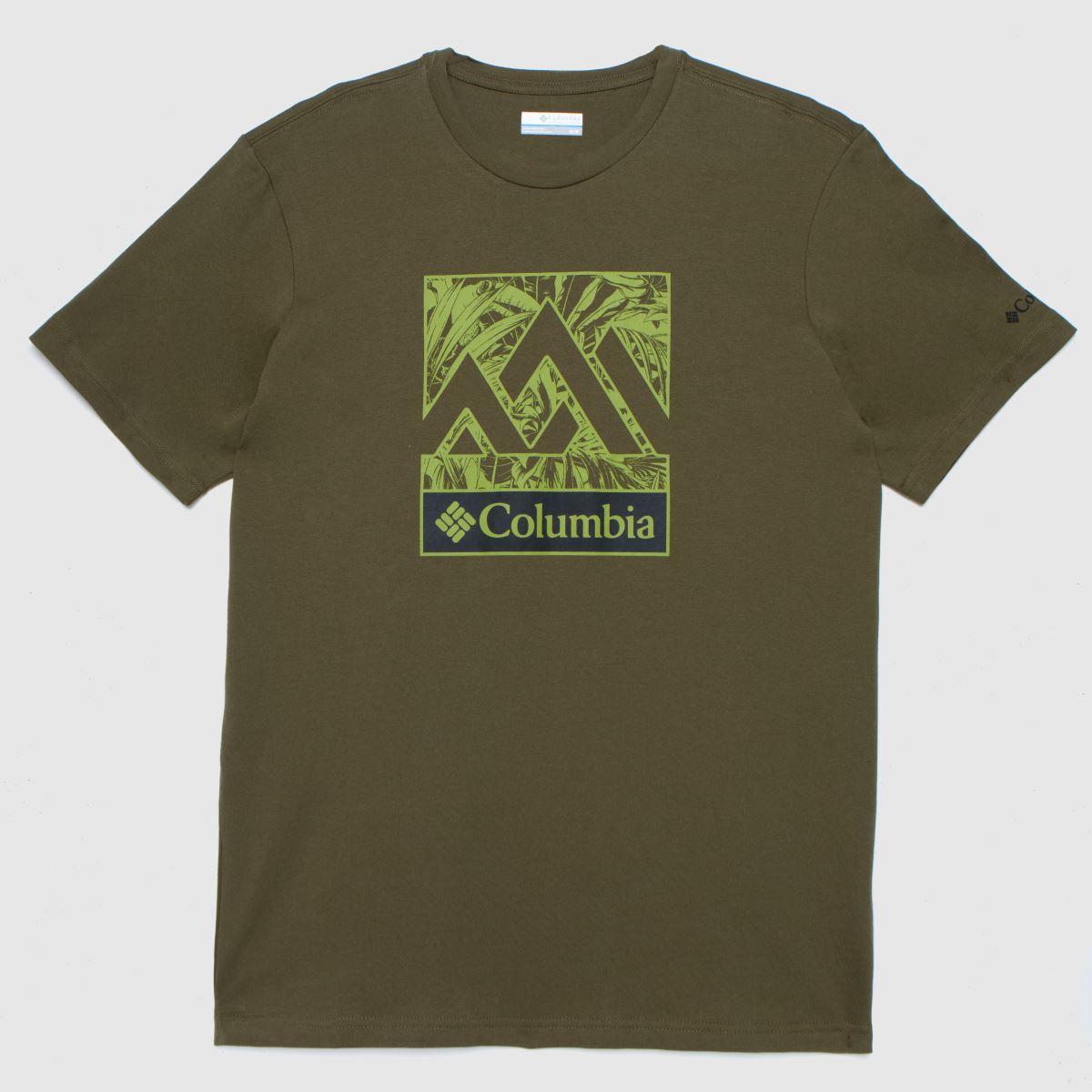 Columbia  Khaki Columbia Graphic Tee