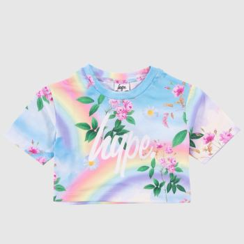 Hype Multi Crop T-shirt Girls