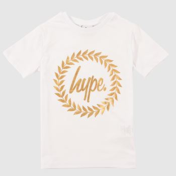 Hype White & Gold T-shirt Boys