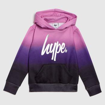 Hype Black & Purple Girls Hoodie Sweetshop Fade Girls