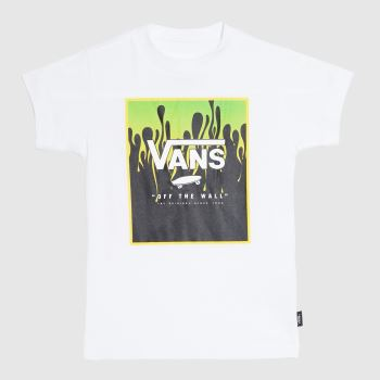 Vans White & Green Kids Print Box T-shirt Kids Unisex