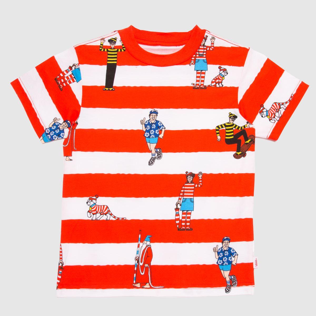 Vans White & Red Wheres Waldo T-shirt