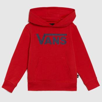 Vans Red Kids Classic Po Hoodie Ft Kids Unisex