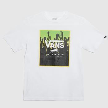 Vans White & Green Boys Print Box T-shirt Boys