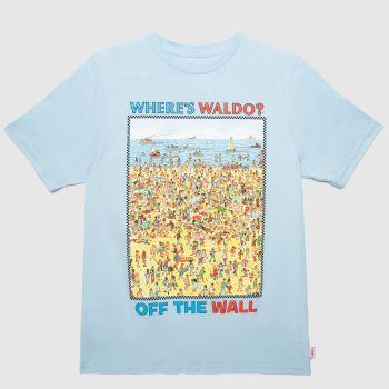 Vans Blue & Yellow Wheres Waldo T-shirt Boys