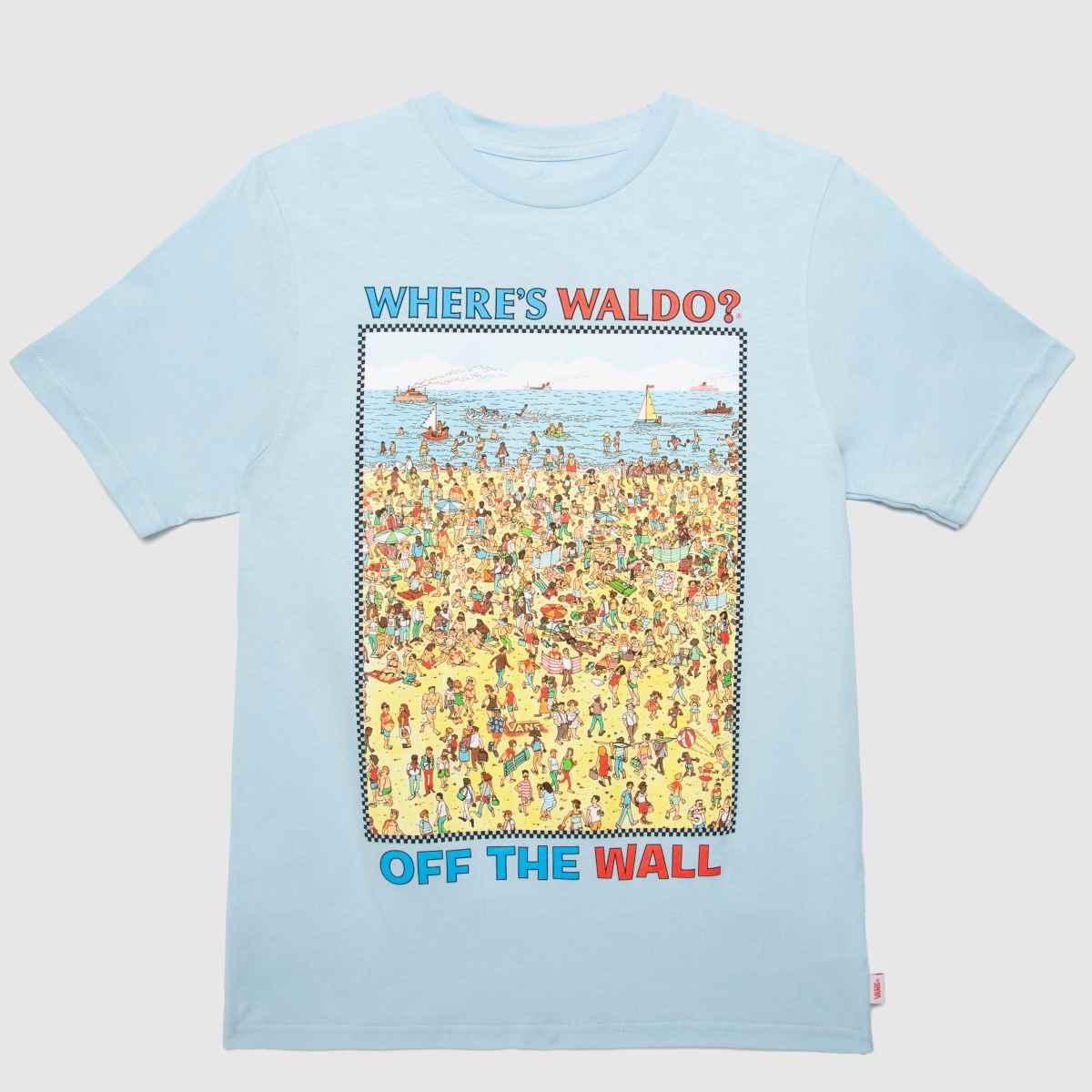 Vans Blue & Yellow Wheres Waldo T-shirt