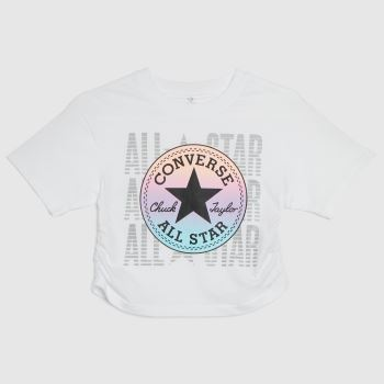 Converse White & Pink Cons Girls Ruched Boxy Ombre Girls
