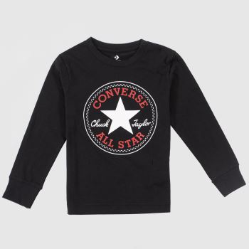 Converse Black & Red Kids L/s Chuck Patch Tee Boys