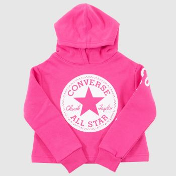 clothing Converse pink kids chuck patch hoodie